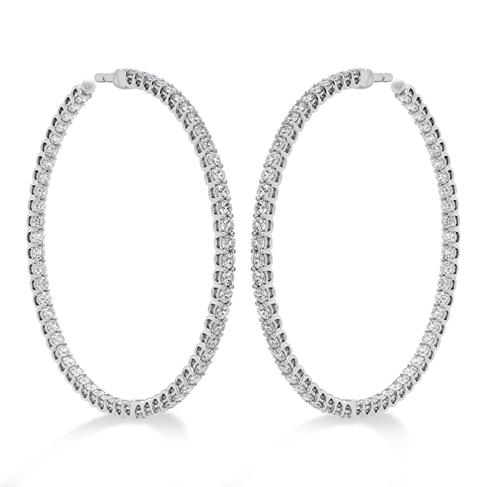 3.24 ctw. Signature Inside Out Hoop - Large in 18K White Gold