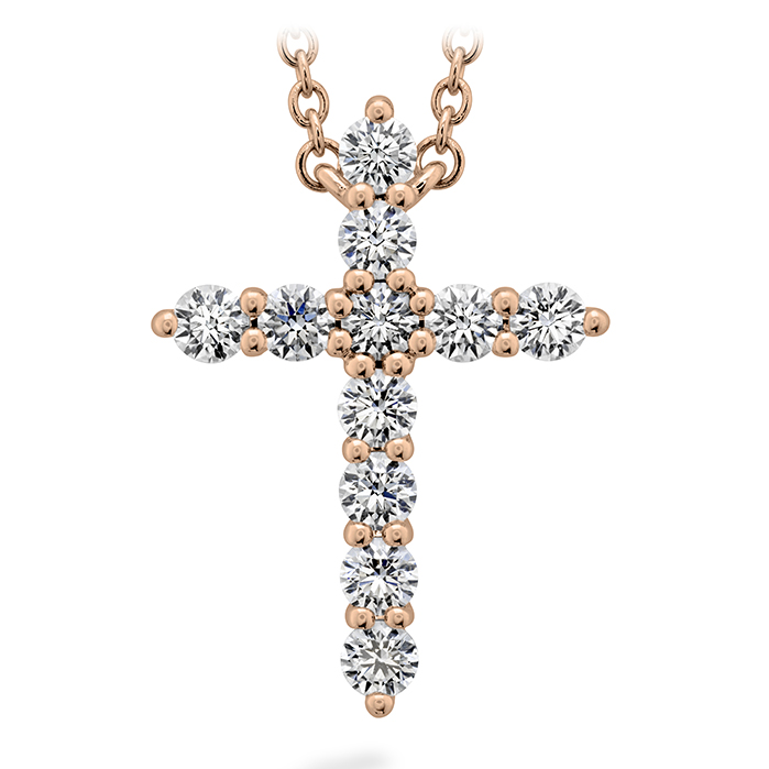 0.5 ctw. Signature Cross Pendant - Large in 18K Rose Gold