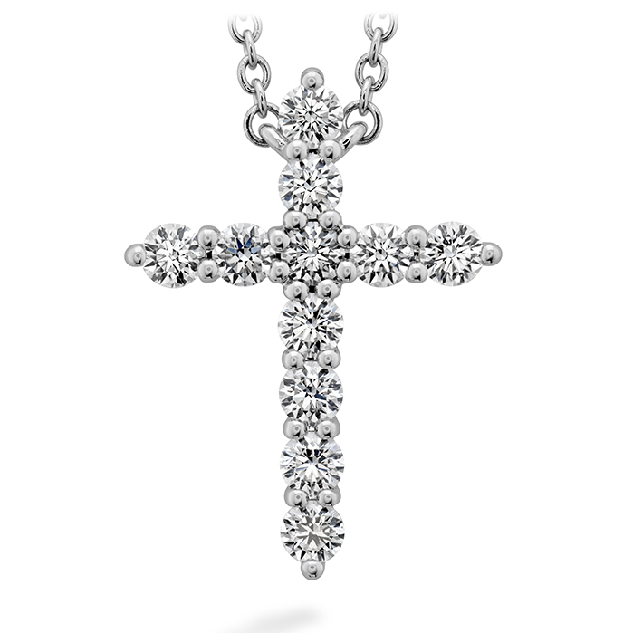 0.5 ctw. Signature Cross Pendant - Large in 18K White Gold