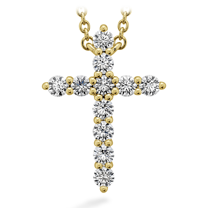 0.5 ctw. Signature Cross Pendant - Large in 18K Yellow Gold