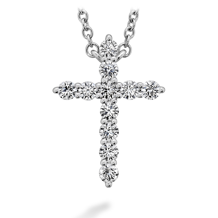 0.32 ctw. Signature Cross Pendant - Medium in 18K White Gold