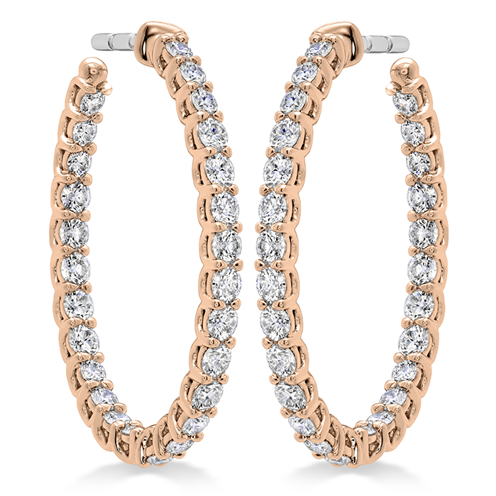 1.36 ctw. Signature Oval Hoop - Medium in 18K Rose Gold