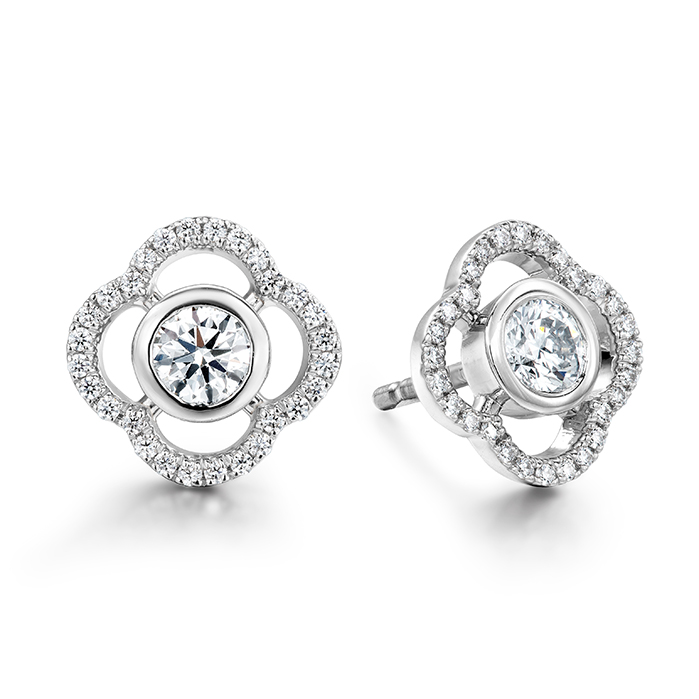 0.56 ctw. Signature Petal Bezel Earrings in 18K Rose Gold