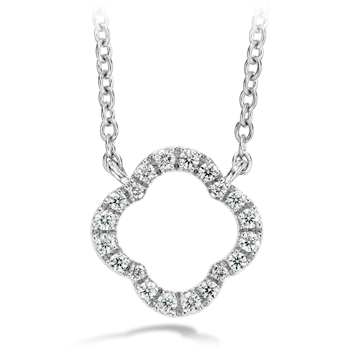0.1 ctw. Signature Petal Pendant in 18K White Gold