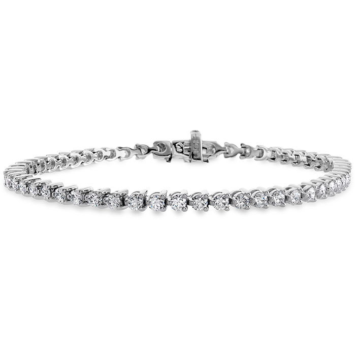 7 ctw. Temptation Three-Prong Bracelet in 18K White Gold