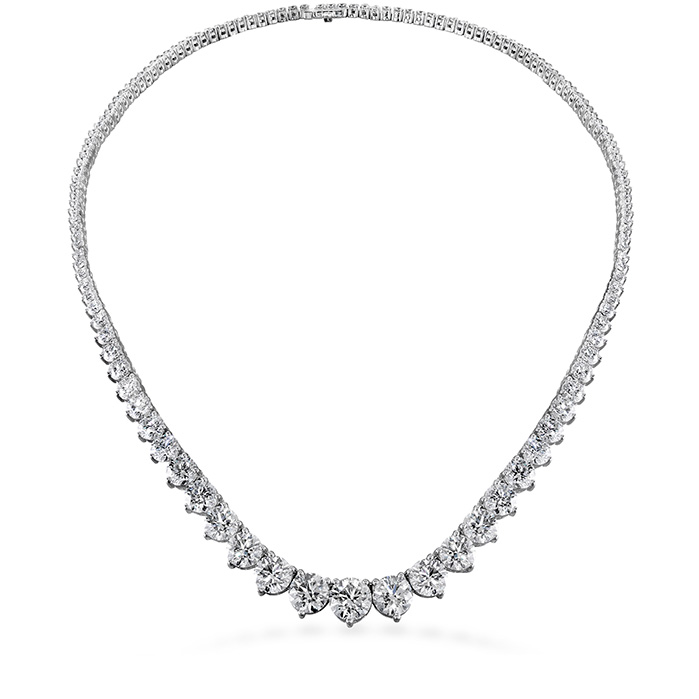 20 ctw. Temptation Three-Prong Necklace in 18K White Gold