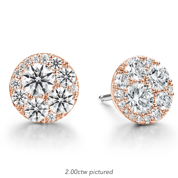 2.04 ctw. Tessa Diamond Circle Earrings in 18K Rose Gold