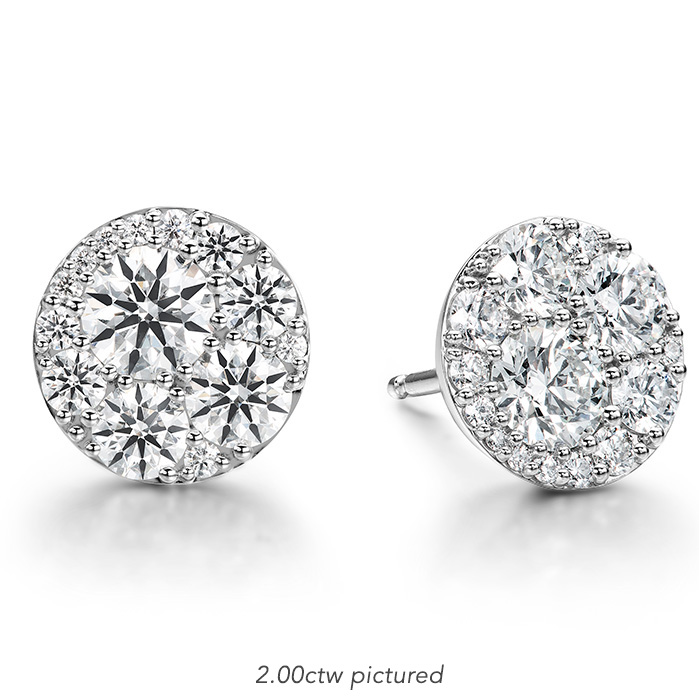 0.5 ctw. Tessa Diamond Circle Earrings in 18K White Gold