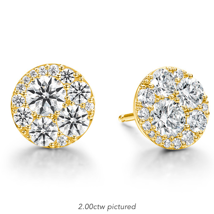 0.34 ctw. Tessa Diamond Circle Earrings in 18K Yellow Gold