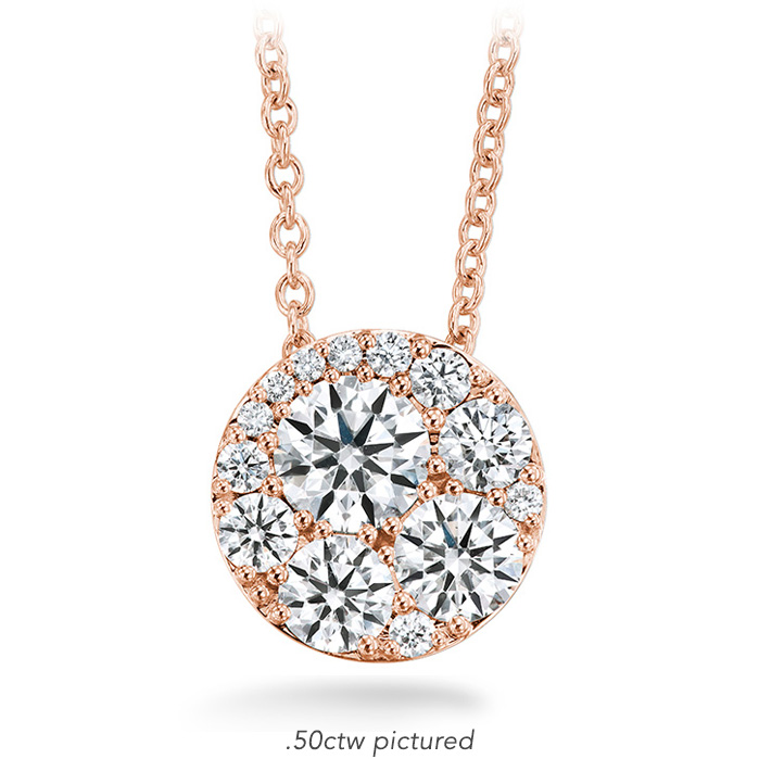 0.25 ctw. Tessa Diamond Circle Pendant in 18K Rose Gold
