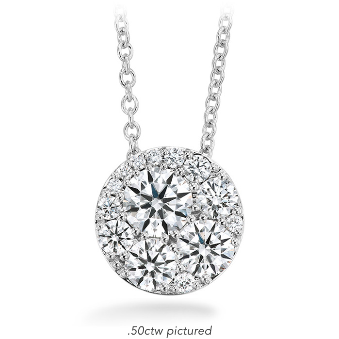 0.51 ctw. Tessa Diamond Circle Pendant in 18K White Gold