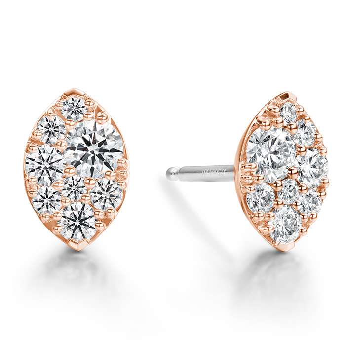 0.34 ctw. Tessa Navette Earrings in 18K Rose Gold