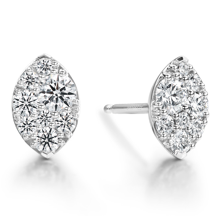 0.34 ctw. Tessa Navette Earrings in 18K White Gold