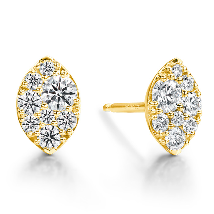 0.5 ctw. Tessa Navette Earrings in 18K Yellow Gold