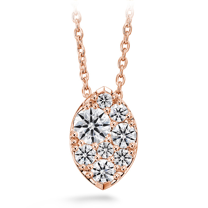 0.5 ctw. Tessa Diamond Navette Pendant in 18K Rose Gold