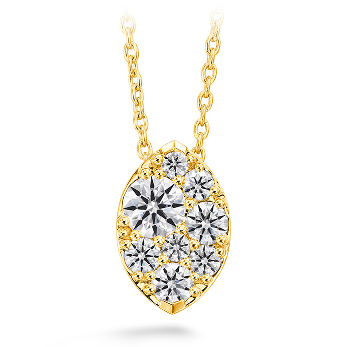 0.25 ctw. Tessa Diamond Navette Pendant in 18K Yellow Gold