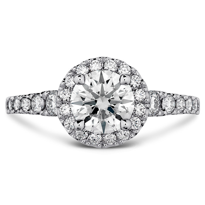0.3 ctw. Transcend Premier HOF Halo Engagement Ring in 18K White Gold