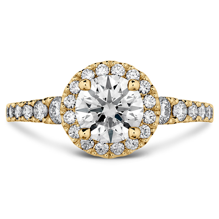 0.5 ctw. Transcend Premier HOF Halo Engagement Ring in 18K Yellow Gold