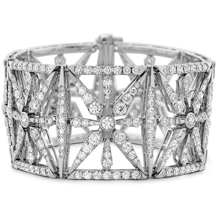 22.5 ctw. Triplicity Diamond Cuff Bracelet in 18K White Gold