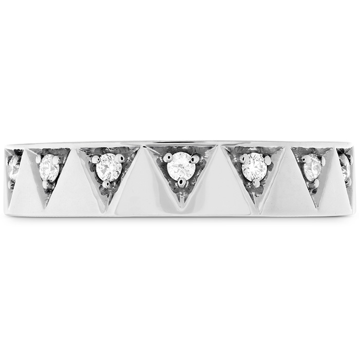 0.1 ctw. Triplicity Triangle Multi Diam Band 4mm in Platinum