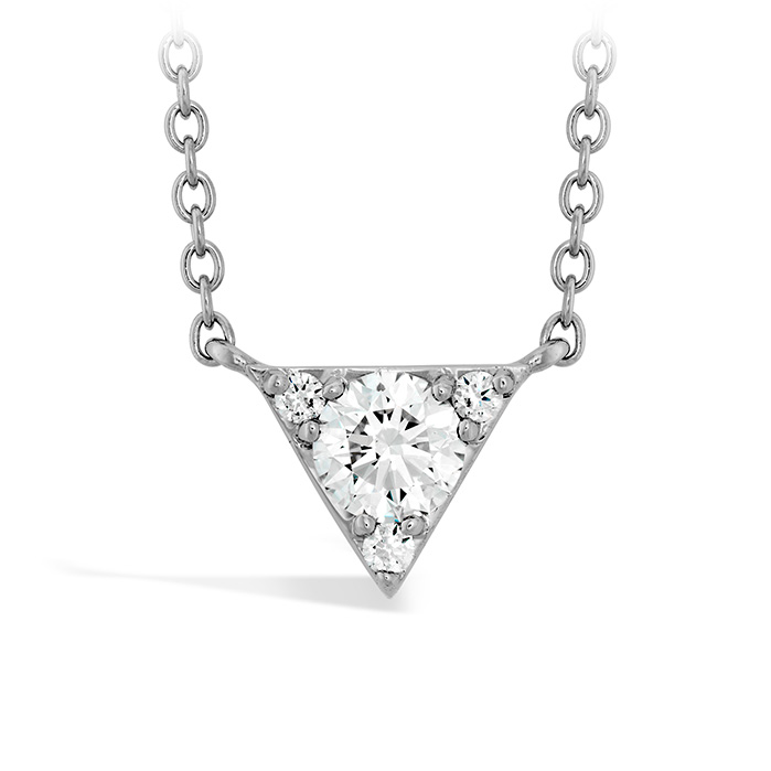0.28 ctw. Triplicity Triangle Pendant in 18K Rose Gold