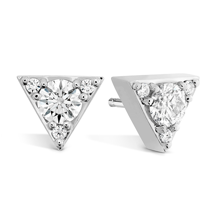 0.3 ctw. Triplicity Triangle Stud Earrings in 18K Rose Gold
