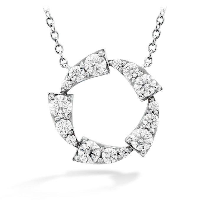 0.65 ctw. Triplicity Circle Pendant in 18K White Gold