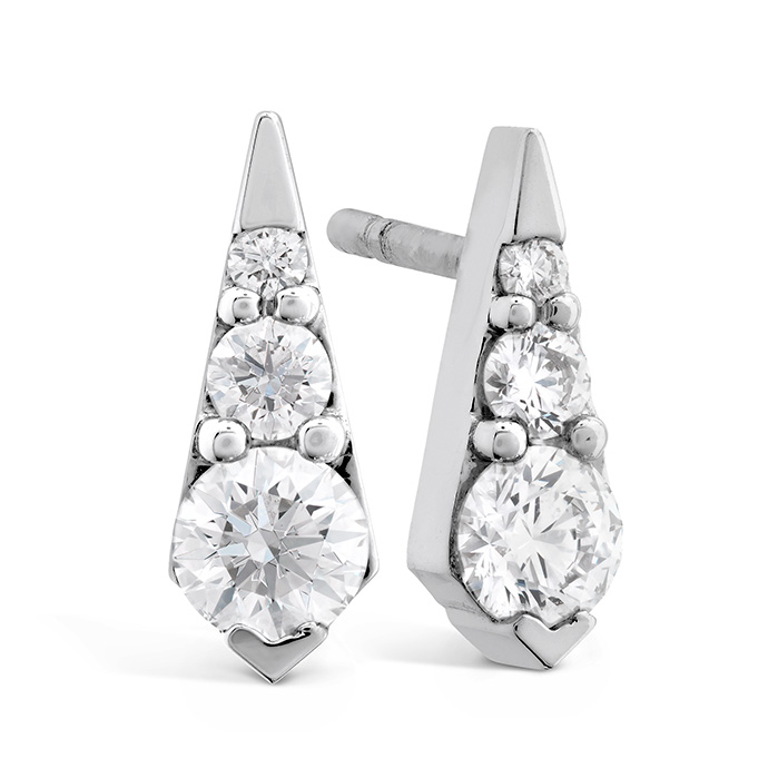 0.4 ctw. Triplicity Drop Stud Earrings in 18K White Gold