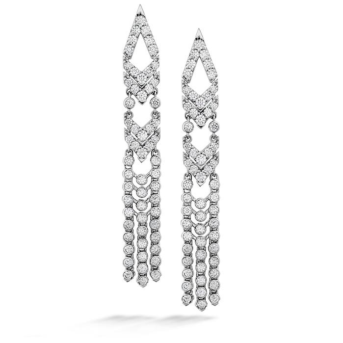 3.95 ctw. Triplicity Fringe Earrings in 18K White Gold