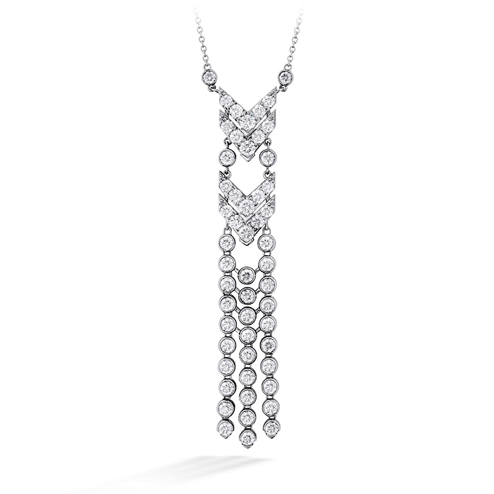 6.55 ctw. Triplicity Fringe Necklace in 18K White Gold