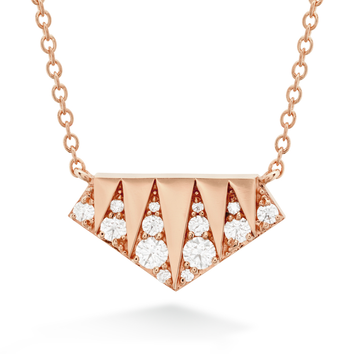 0.21 ctw. Triplicity Golden Pendant in 18K Rose Gold