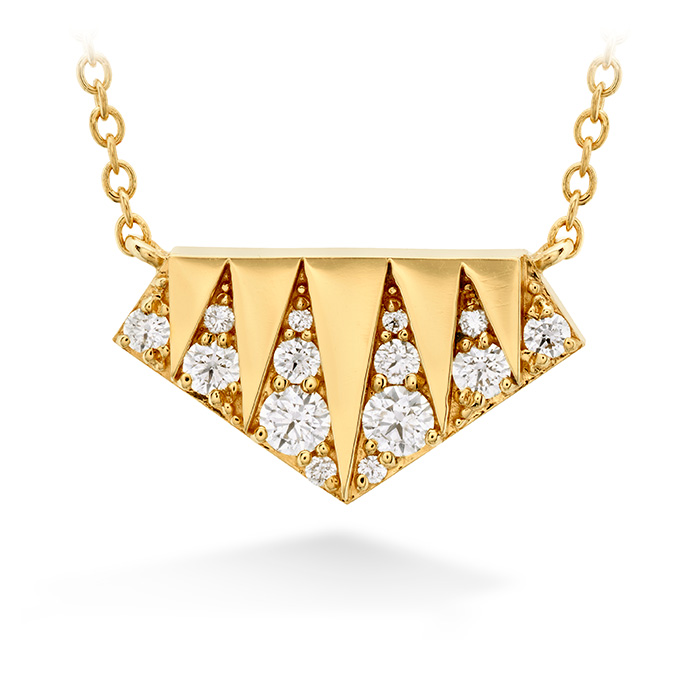 0.22 ctw. Triplicity Golden Pendant in 18K Yellow Gold
