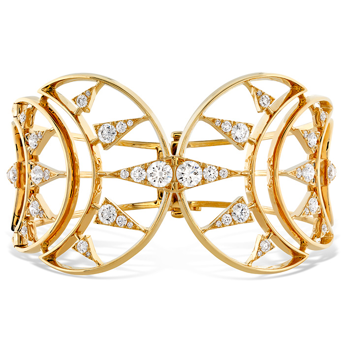4.72 ctw. Triplicity Golden Cuff in 18K Yellow Gold