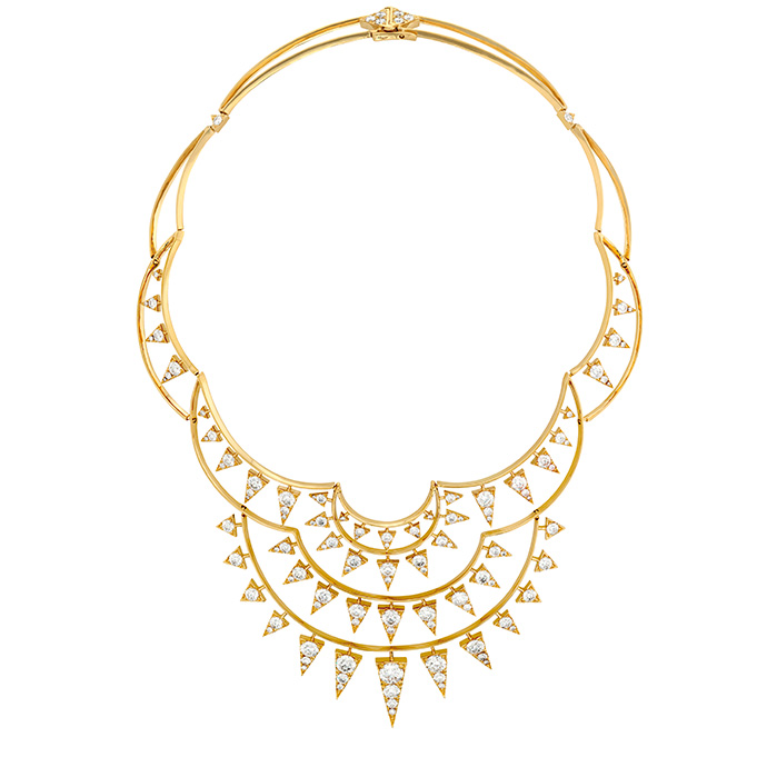 17.95 ctw. Triplicity Golden Necklace in 18K Yellow Gold