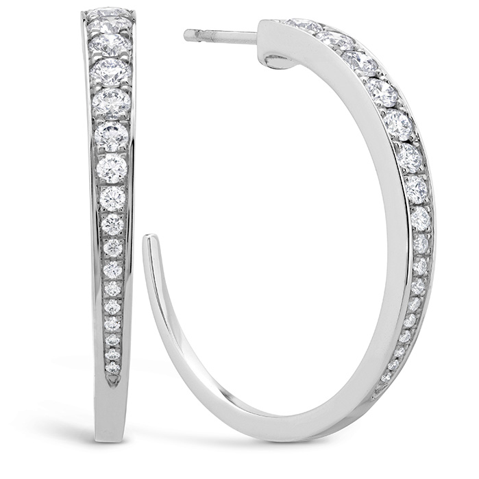 1.2 ctw. Triplicity Hoop Earrings in 18K White Gold
