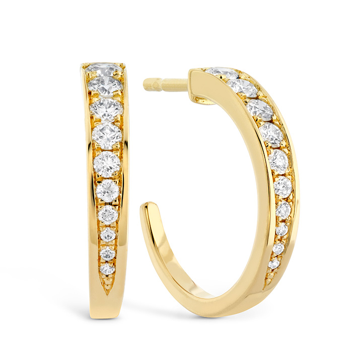 0.4 ctw. Triplicity Small Hoop Earrings in 18K Yellow Gold