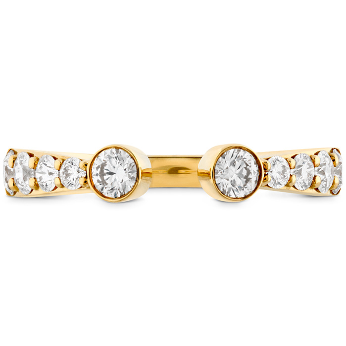 0.71 ctw. Triplicity Open Bezel Band in 18K Yellow Gold