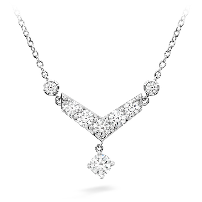 0.68 ctw. Triplicity Pointed Necklace in 18K White Gold