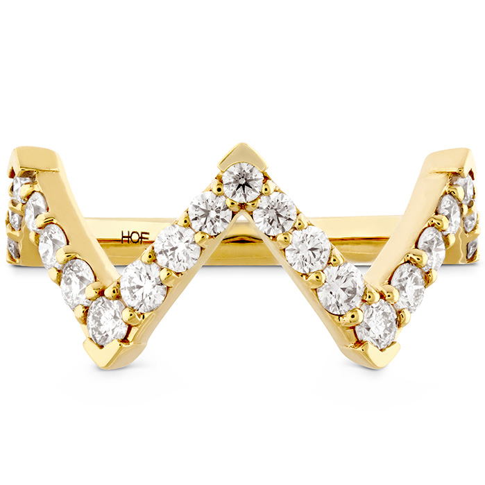 0.7 ctw. Triplicity Pointed Diamond Ring in 18K Yellow Gold