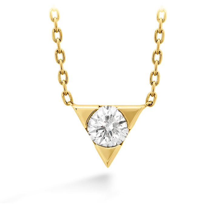 0.1 ctw. Triplicity Single Diamond Pendant in 18K Yellow Gold
