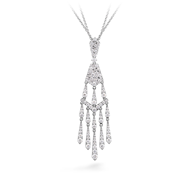 4.25 ctw. Triplicity Tassel Drop Necklace in 18K White Gold
