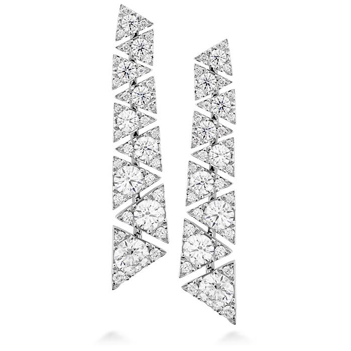 3 ctw. Triplicity Drop Earrings in 18K White Gold
