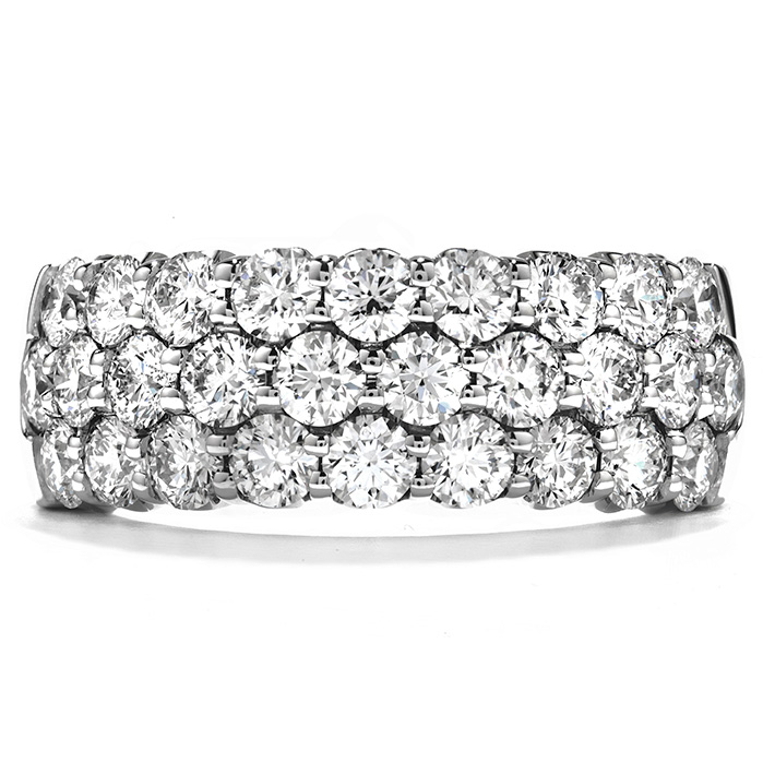 1.65 ctw. Truly Triple Row Right Hand Ring in 18K White Gold