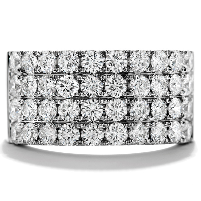 1.65 ctw. Truly Classic Four-Row Right Hand Ring in 18K White Gold