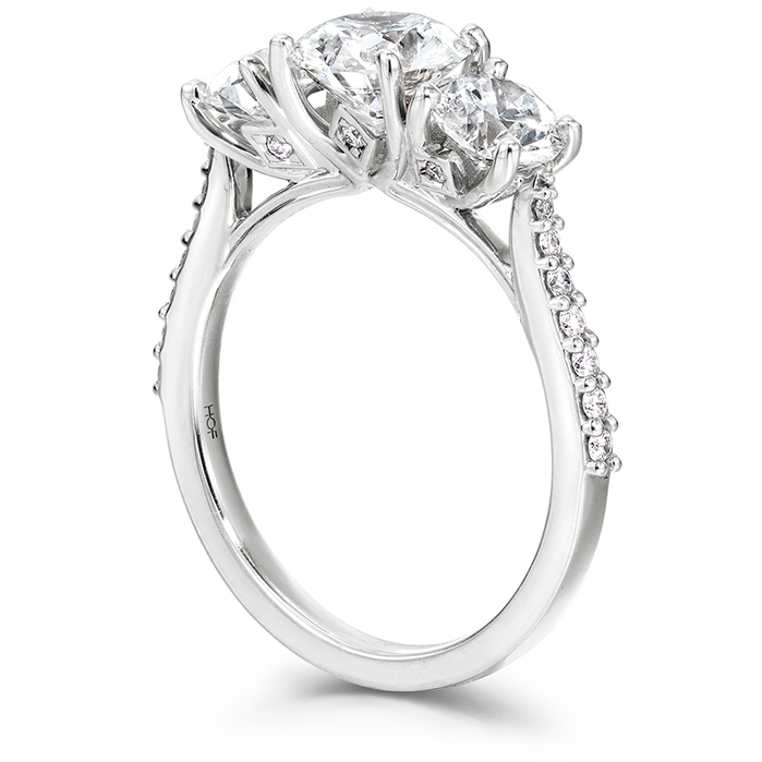Camilla 3 Stone Diamond Engagement Ring