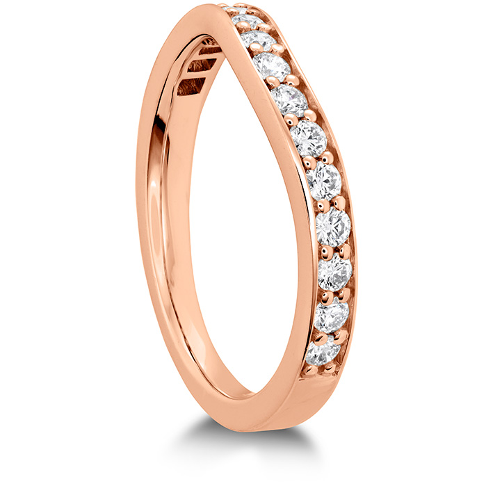 HOF Hexagonal Curved Diamond Band