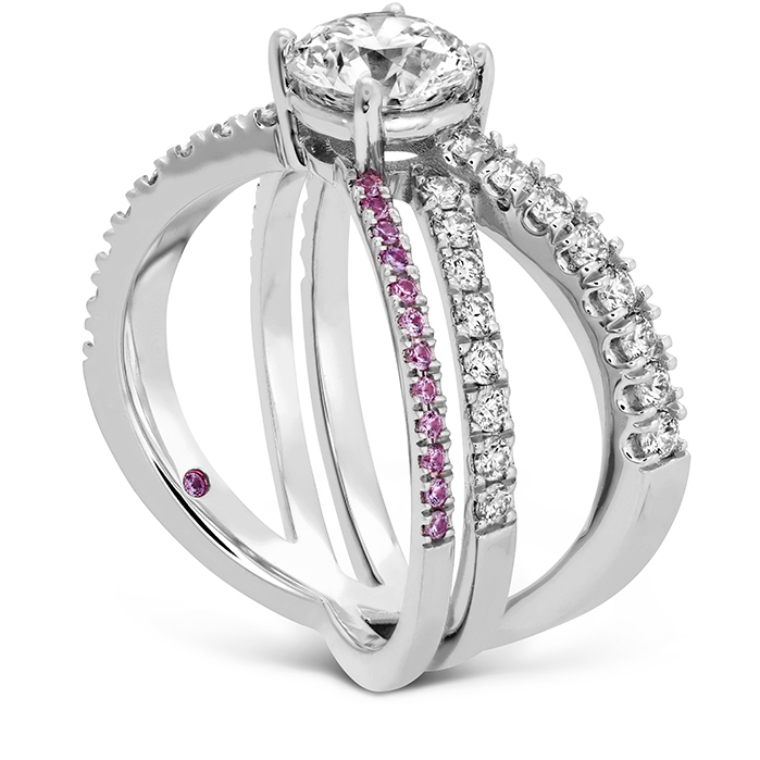 Harley Wrap Engagement Ring with Sapphires