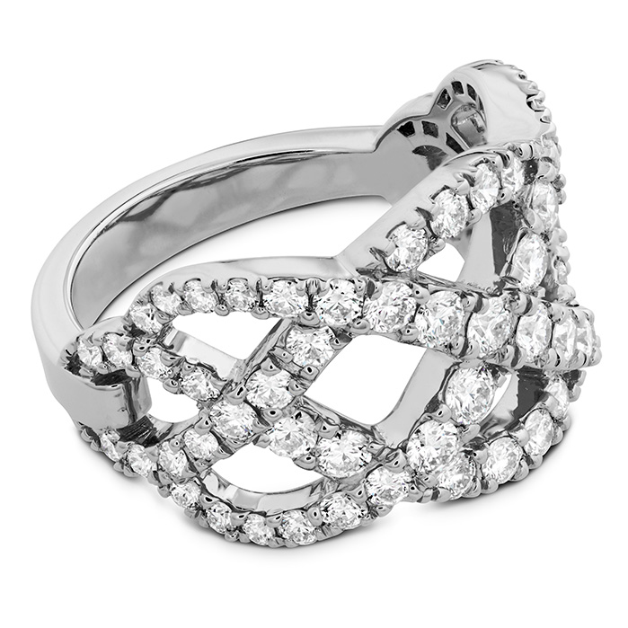 Intertwining Diamond Right Hand Ring