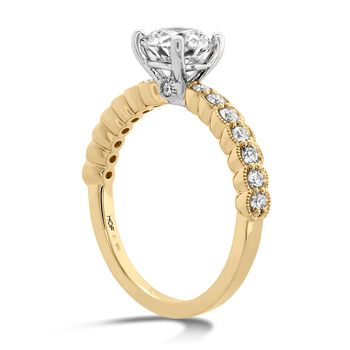 Isabelle Milgrain Engagement Ring