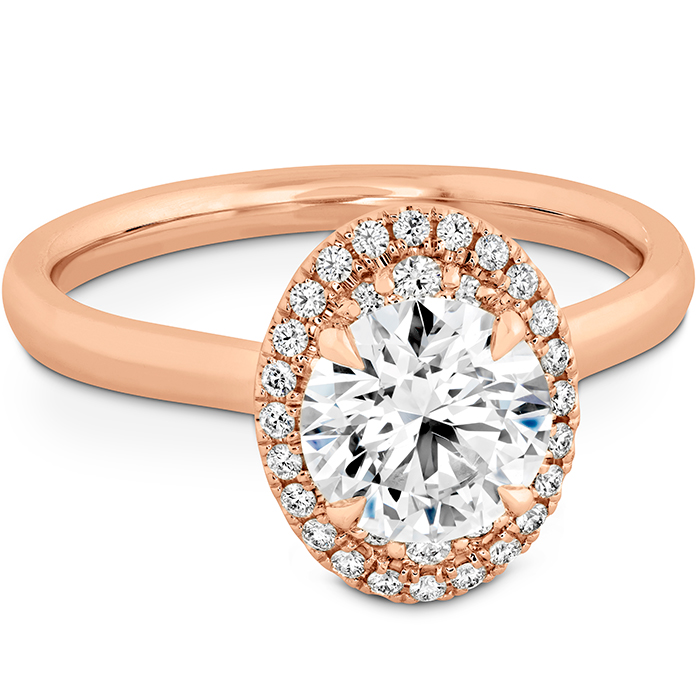Juliette Oval Halo Engagement Ring